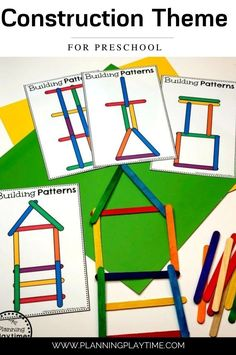 Construct and Build using Patterns. - Preschool Construction Activities