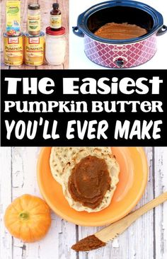 Pumpkin Butter Recipe - Easy Crockpot Desserts Spread! This healthy spread is thick, creamy, protein packed, and the tastiest way to start your day! Here's what you'll need to make yours... Delicious Crockpot Recipes, Slow Cooker Recipes, Easy Thanksgiving Recipes, Fall Recipes, Easy Butter Recipe, Crock Pot Desserts, Pumpkin Butter, Savoury Dishes, Yummy Appetizers