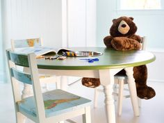 How to Repurpose a Dining Table into a Kids' Activity Table:  From DIYNetwork.com from DIYnetwork.com