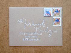 Custom Hand Lettered Envelope Addressing