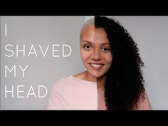 Hey guys, so guess what. I got all my hair shaved off finally! Natural Hair Growth, Natural Hair Styles, Buzz Cut Women, Hair Cutting Videos, Shave My Head, Shaving, Guys, Youtube, Big Chop