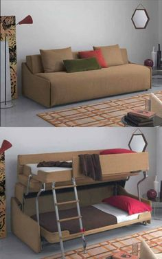 Bunkbed Couch    A Clever Spin On Furniture Design. Your Thoughts?