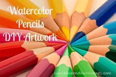 Watercolor Pencils DIY Artwork Create amazing artwork with this fabulous method! No artistic ability required, perfect for ALL ages! sunshineandhurricanes.com
