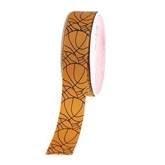 Basketball Print Grosgrain Ribbon, 7/8-inch, 5-yard * Details can be found by clicking on the image.