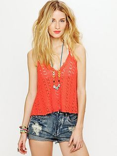 Crochet tank... Comes in mint, black and white as welll