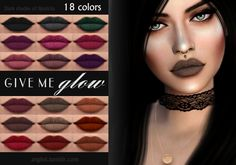 "Give Me Glow Cosmetics * Liquid Lipstick * for the appearance of lipstick should be - Supplement "" fun together "" - 18 colors. - Works with all skins. - Yes- Custom CAS image. Tag ME if you use it. Enjoy the game! DOWNLOAD  If you have any problems..."