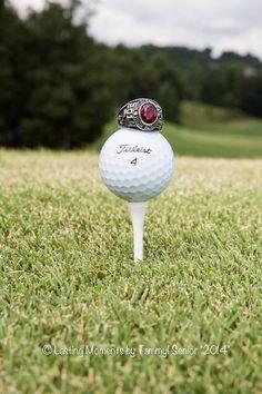 Creative senior portraits - golf