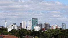 Birmingham UK Skyline - TV Tower & Rotunda, the two most known buildings in Brum