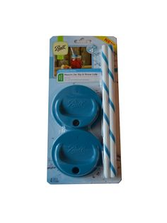Amazon.com: Ball Mason Jar Sip and Straw Lids New Colors! Set of 4 (Wide Mouth, Blue): Kitchen & Dining