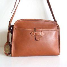 Vintage Liz Claiborne Leather Crossbody Bag 2a6e7f98f2d1b
