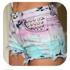 dyed shorts