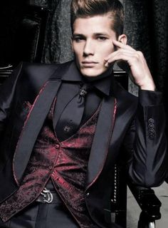 Men's Fashion very nice vest and suit..classy