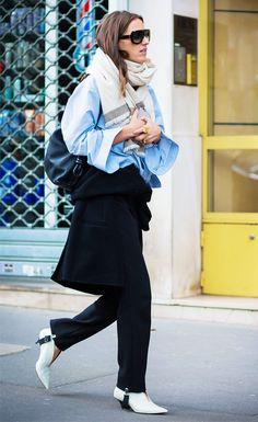 All the Fashion Girls Are Wearing This Leggings-Pants Hybrid via @WhoWhatWear