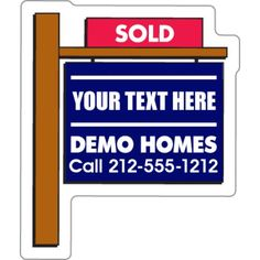 Try out a unique way to display your contact information! #custommagnets #realestate  #promotionalproduct #freeshipping