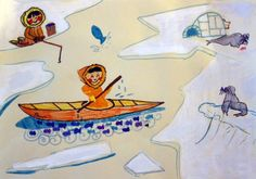 """© la little gallery - Dessin d'Eleanor, 8 ans, Paris, pour le concours """"ESQUIMAUX"""""""