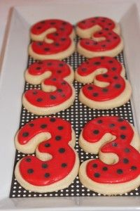 Olivia the Pig cookies for 3rd Birthday. Cute Idea. The red certainly fits the Olivia theme