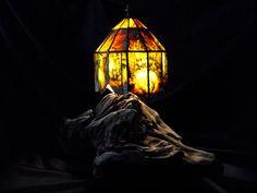NZ Jade/Pounamu/Greenstone lamp shade using copper foil with West Coast drift wood base, Driftwood, West Coast, Jade, Carving, Vintage, Wood Carvings, Sculptures, Vintage Comics, Printmaking