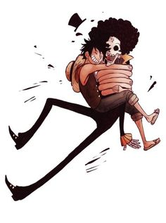 Aw, Luffy and Brook