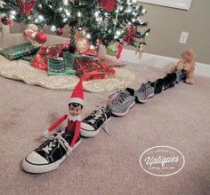 Elf Ideas Easy, Awesome Elf On The Shelf Ideas, Elf On The Shelf Ideas For Toddlers, Xmas Ideas, Holiday Ideas, Elf Christmas Decorations, Holiday Crafts, Holiday Fun, All Things Christmas