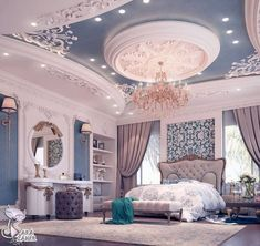 29 Ideas Luxury Bedroom Design Mansions For 2019 Luxury Bedroom Design, Room Design Bedroom, Luxury Home Decor, Luxury Interior, Home Bedroom, Modern Bedroom, Home Interior Design, Bedroom Decor, Master Bedroom