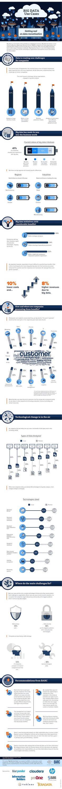 How Is Big Data Making A Real Impact And Being Monetized? #bigdata #infographic
