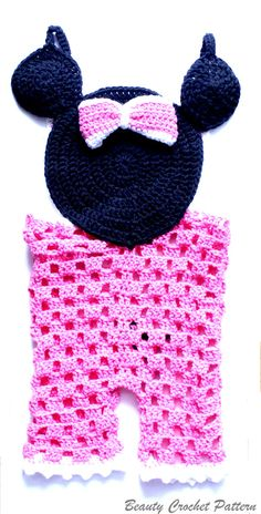Items similar to Crochet Pattern Miss Bow Mouse Romper, Baby Girl Romper Pattern, Overall Crochet Pattern months, Baby Prop Pattern on Etsy Crochet Girls, Crochet Baby Clothes, Crochet For Kids, Crochet Beanie, Knit Or Crochet, Cute Crochet, Cute Baby Girl Outfits, Baby Girl Romper, Crochet Patterns For Beginners