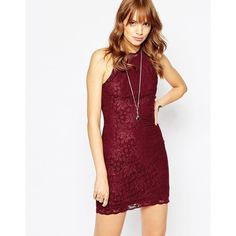 Wyldr Chaser Dress In Lace ($51) ❤ liked on Polyvore featuring dresses, cordovan, white dress, body conscious dress, bodycon cocktail dress, white bodycon dress and white cocktail dresses