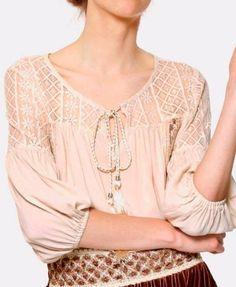 blouse boheme romantique