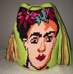 Special Edition Frida Kahlo Handmade Colombian Wayuu Mochila Bag crossbody NEW #Wayuuchilabags #ShoulderBag
