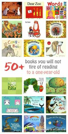 50+ books for one year old that you will not get tired of reading.