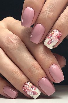 30 Perfect Pink And White Nails For Brides We have collected temeless ideas of pink and white nails, which enchantingly complete the image of bride. Enjoy the ideas in our gallery! Pink Nail Art, Cute Acrylic Nails, Rose Nail Art, Rose Nails, Flower Nails, Oval Nails, Stylish Nails, Trendy Nails, Perfect Nails