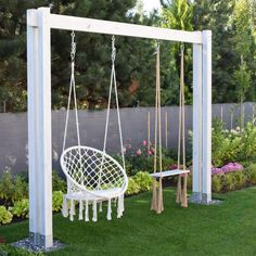 Home Flowers, Kids Play Area, Porch Swing, Outdoor Furniture, Outdoor Decor, Hanging Chair, Kids Playing, Home And Garden, Outdoor Structures