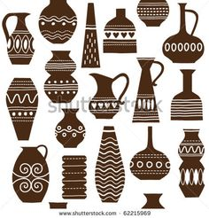 seamless pattern with jugs and vases by LenLis, via Shutterstock
