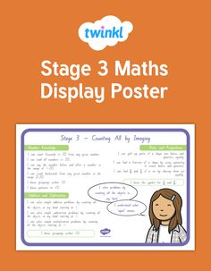 A great set of posters displaying all the key learning outcomes for Stage 3 maths. Excellent for maths displays, sharing learning outcomes with students and parents, and creating goals and next steps. Numeracy Display, Poster Display, Classroom Displays, Year 2, Hands On Activities, Kindergarten, Stage, Posters, Student