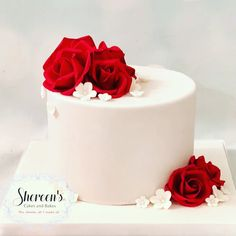 Ruby anniversary cake with ruby red roses ideas para mujeres 40th Anniversary Cakes, Anniversary Cake Designs, Ruby Anniversary, Fondant Rose, Fondant Cakes, Fondant Baby, 3d Cakes, Fondant Flowers, Fondant Figures