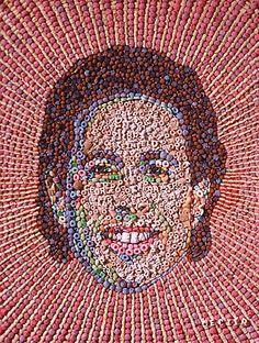 3D Pop Art Mosaic Trash -  Jason Mecier - Alphabet Jerry Sienfeld Crazy Celebrities, Jerry Seinfeld, Seinfeld Elaine, Mosaic Portrait, Pop Culture References, Fruit Art, Cultura Pop, Mosaic Art, Mosaics