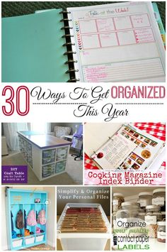 30 ways to get organized this year! Ideas for your home and craft supplies. LifeAfterLaundry.com