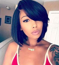 Bob With Bangs Wigs For Black Women Human Hair Lace Front Styles Hairstyles