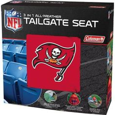 Tampa Bay Buccaneers NFL 3 in 1 All-Weather Tailgate Seat and Poncho