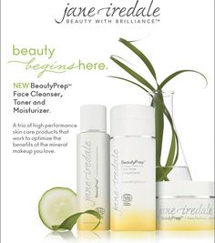Jane Iredale New Beauty Prep skin care.  Enhance your #ritual with a trio of high #performance skin care products that work to optimize the benefits of the #mineral makeup you love.  Receive a Magic Mitt when purchasing the set. Magic Mitt quickly and completely removes makeup using NO cleanser #skincare #makeup #janeiredale #beauty #beautyprep #skin #dayspa #agelesslivingwithangelica #angelicacontrerascoach #thekarmadayspa