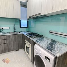 The perfect balance in your kitchen should be simple cabinets and a unique countertop. #MetallicEpoxySG Epoxy Countertop, Countertops, Black Highlights, Epoxy Coating, Washing Machine, Cabinets, Chrome, Metallic, Home Appliances