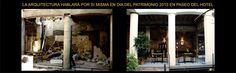 """Ayer y hoy del edificio construido en 1860, para posada de posta de diligencias.  A fines del s.XIX, se adaptó para albergar al Gran Hotel Paso Molino.  Durante el s. XX fue remodelado para servir como pensionado, de acuerdo a los cambios sociales, económicos, culturales e incluso urbanísticos ocurridos en esta zona de la ciudad. (pensión de troperos, de obreras textiles y la Pensión de Zulma) Hoy """"Paseo del Hotel"""", Av Agraciada 3787 Prado, Montevideo, Uruguay."""