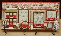 so cute.  Home for the holidays layout {winter woodland & every day paper dolls} #cricut