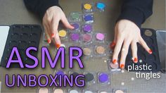 ASMR Unboxing | BH Cosmetics eyeshadow pallet construction (plastic pack...