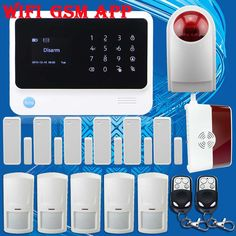 Free Shipping!G90B 2.4G WIFI GSM Wireless Burglar Alarm Gas Detector Outdoor Flash Siren For Home/Office Security