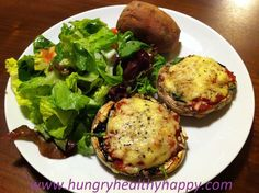 Portobello Mushroom Pizza  #justeatrealfood #hungryhealthyhappy