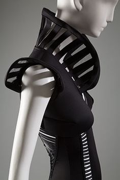 apparel style: neoprene body suit  designer: Suki Cohen  year: 2014 where: The Museum at FIT