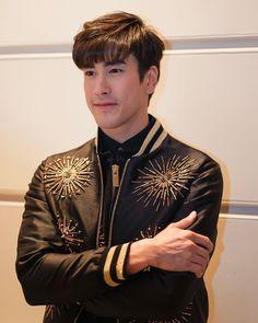 Thailand, Boyfriend, Handsome, Leather Jacket, Actors, Pencil Drawings, Boys, Jackets, Entertainment