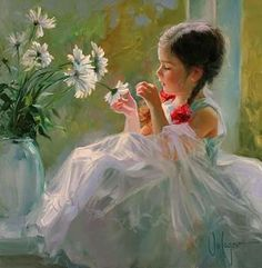 Children Paintings by Vladimir Volegov ..........In 1990 Vladimir began traveling to Europe where he earned money by painting portraits on the streets of Barcelona, Berlin, Vienna and other European cities. It is with this experience he further honed his skills in depicting the human form.