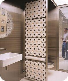 Papel higiênico na decoração